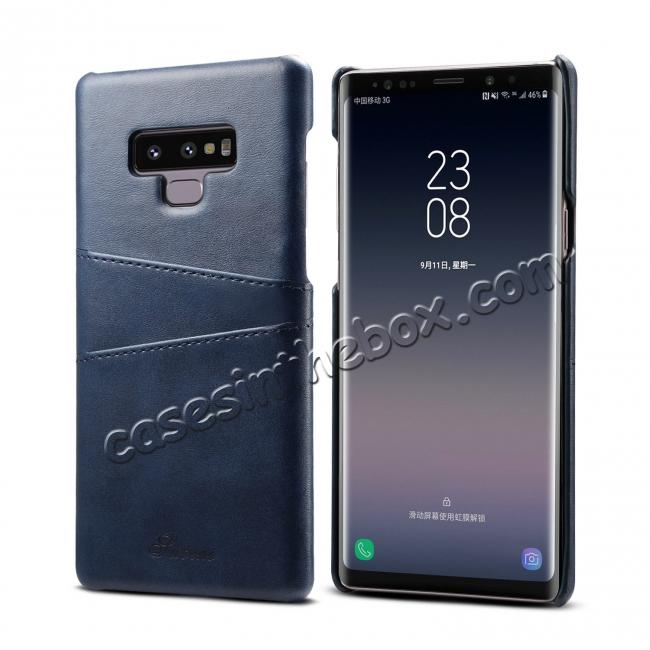 china wholesale Case For Samsung Galaxy Note 9 Shockproof Leather Card Slot Back Cover