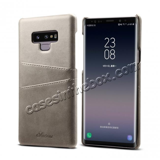 cheap wholesale Case For Samsung Galaxy Note 9 Shockproof Leather Card Slot Back Cover