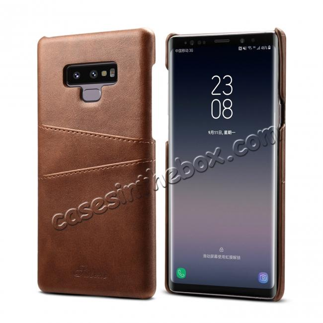 discount wholesale Case For Samsung Galaxy Note 9 Shockproof Leather Card Slot Back Cover