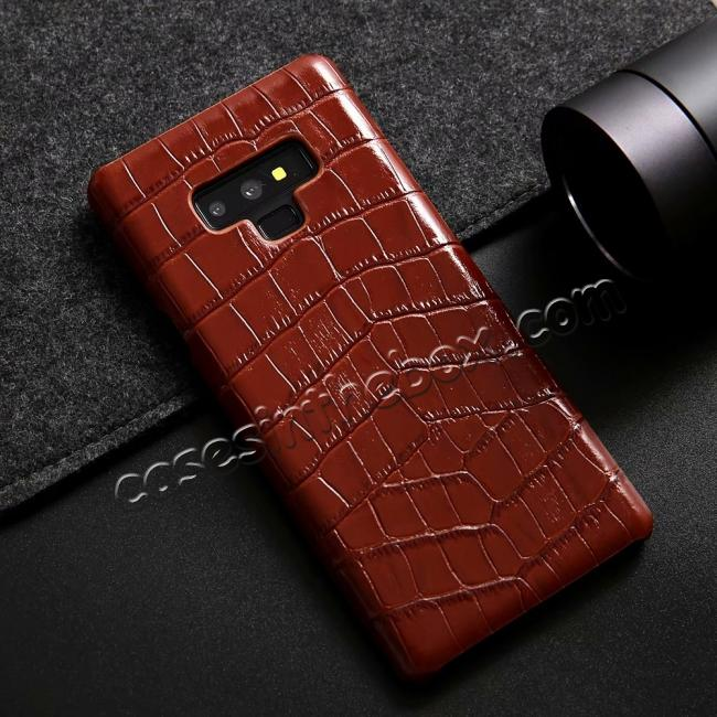 discount Crocodile Genuine Leather Back Case for Samsung Galaxy Note 9