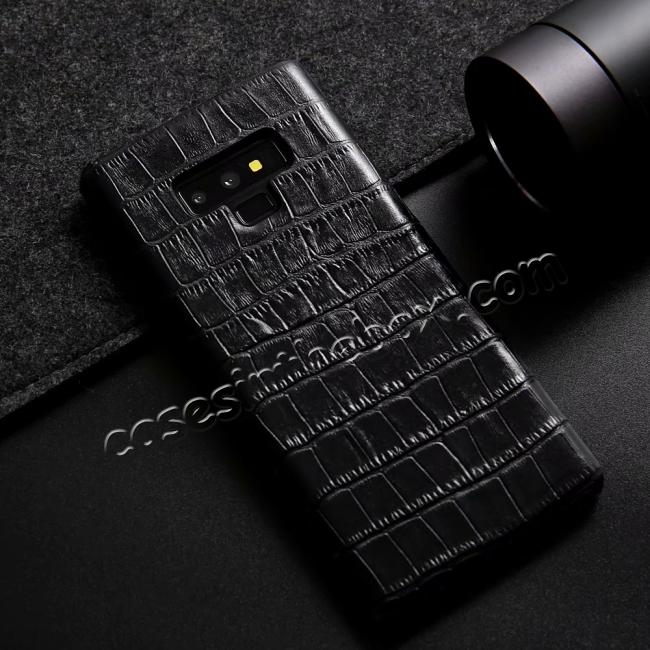 on sale Crocodile Genuine Leather Back Case for Samsung Galaxy Note 9