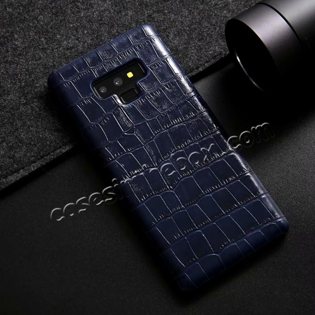 low price Crocodile Genuine Leather Back Case for Samsung Galaxy Note 9
