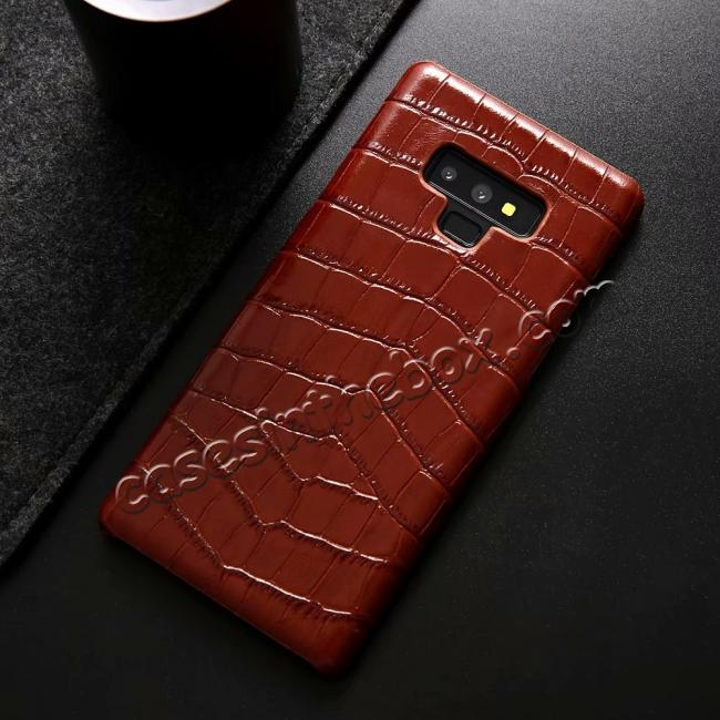 cheap Crocodile Genuine Leather Back Case for Samsung Galaxy Note 9