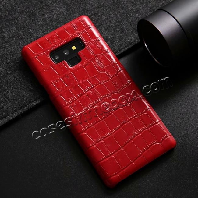 high quanlity Crocodile Genuine Leather Back Case for Samsung Galaxy Note 9