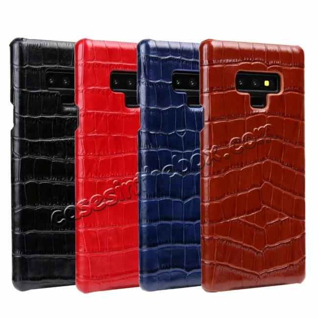wholesale Crocodile Genuine Leather Back Case for Samsung Galaxy Note 9