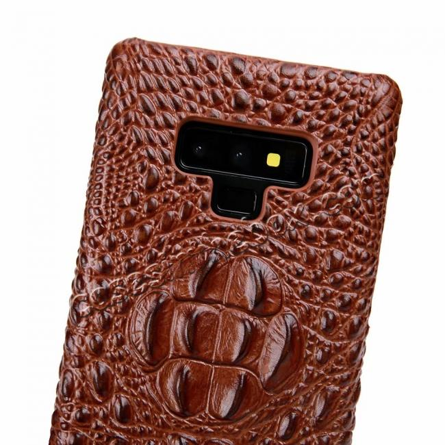 high quanlity Crocodile Head Pattern Real Leather Case for Samsung Galaxy Note 9