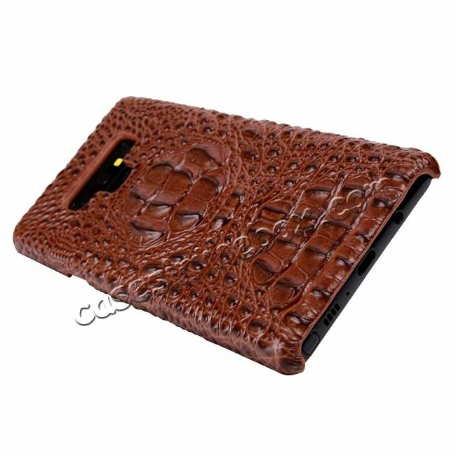 low price Crocodile Head Pattern Real Leather Case for Samsung Galaxy Note 9
