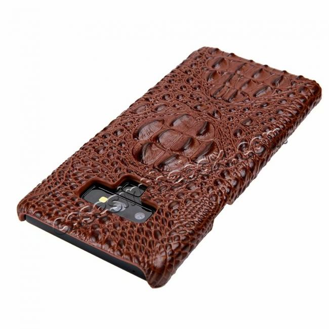 on sale Crocodile Head Pattern Real Leather Case for Samsung Galaxy Note 9