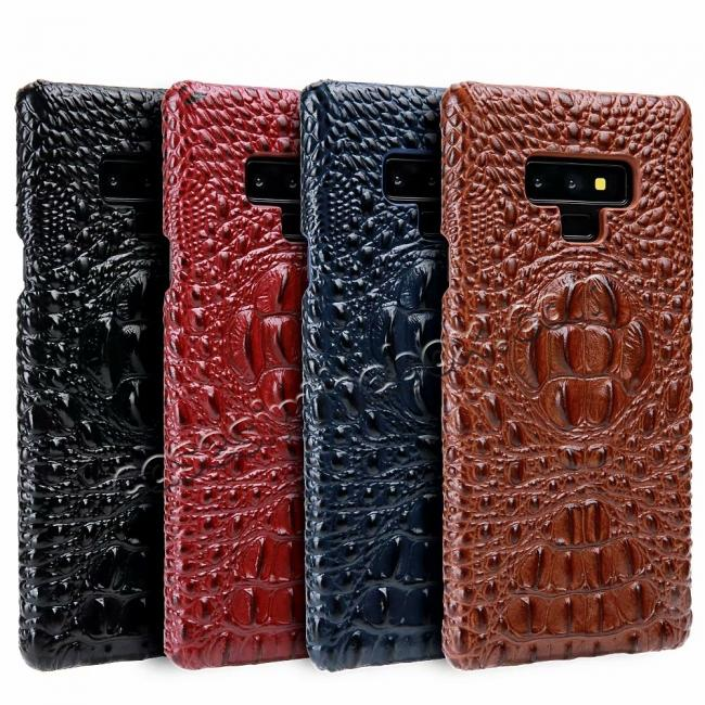 wholesale Crocodile Head Pattern Real Leather Case for Samsung Galaxy Note 9