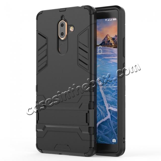 cheap For Nokia 7 Plus 2018 Case with Built-in Kickstand Hybrid Rugged Armor Cover