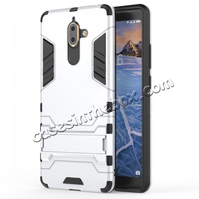 low price For Nokia 7 Plus 2018 Case with Built-in Kickstand Hybrid Rugged Armor Cover