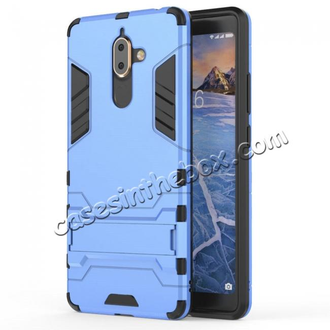 China leading wholesale For Nokia 7 Plus 2018 Case with Built-in Kickstand Hybrid Rugged Armor Cover