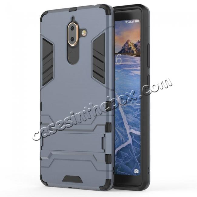 wholesale For Nokia 7 Plus 2018 Case with Built-in Kickstand Hybrid Rugged Armor Cover