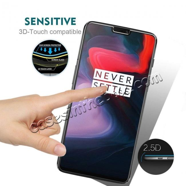 top quality For OnePlus 6 9H Premium Thin Tempered Glass Screen Protector Film
