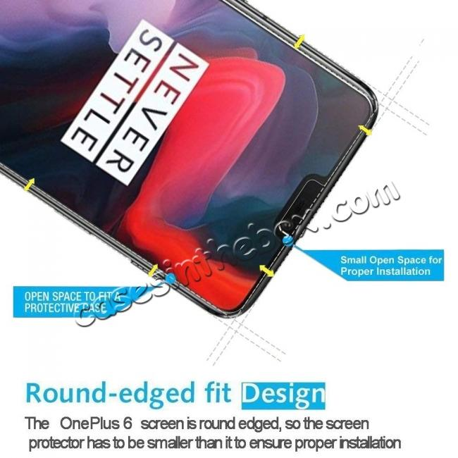 best price For OnePlus 6 9H Premium Thin Tempered Glass Screen Protector Film