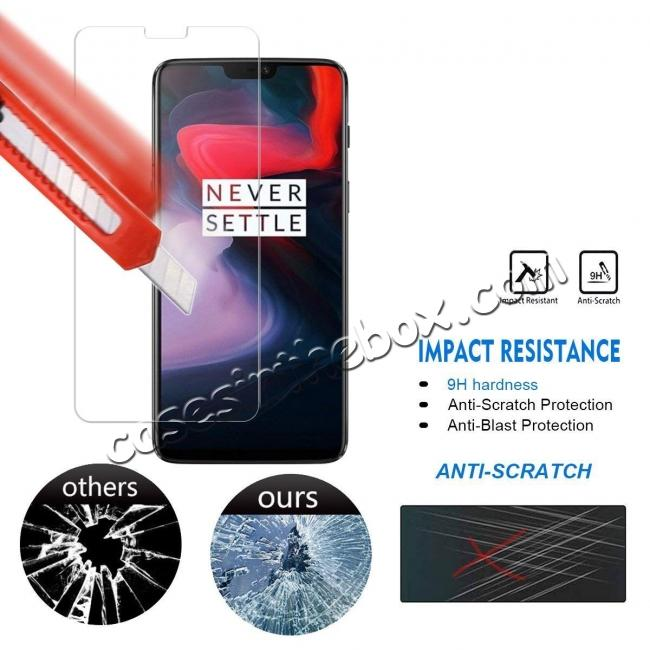 on sale For OnePlus 6 9H Premium Thin Tempered Glass Screen Protector Film