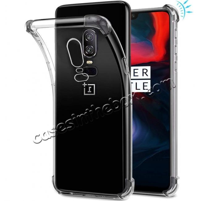 discount For OnePlus 6 Shockproof 360° Clear Back Slim Soft TPU Case Cover