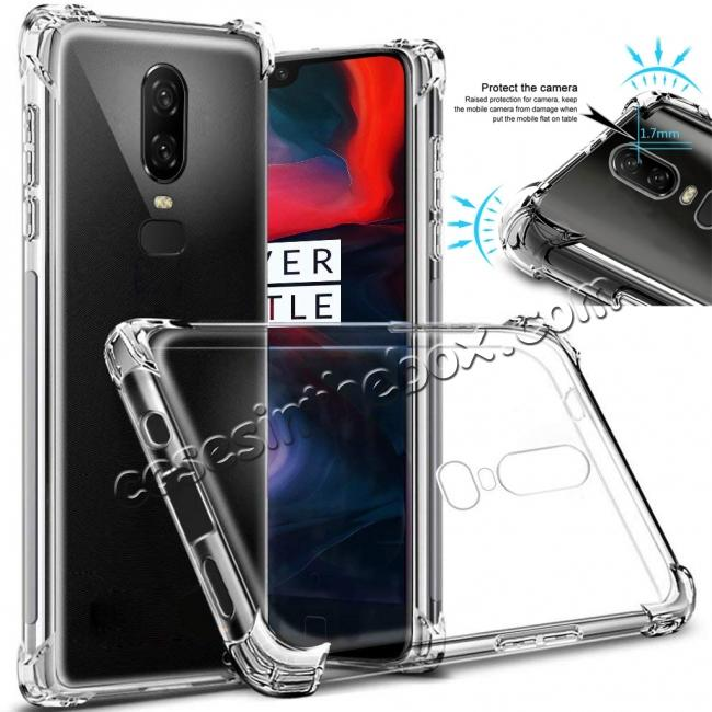 wholesale For OnePlus 6 Shockproof 360° Clear Back Slim Soft TPU Case Cover