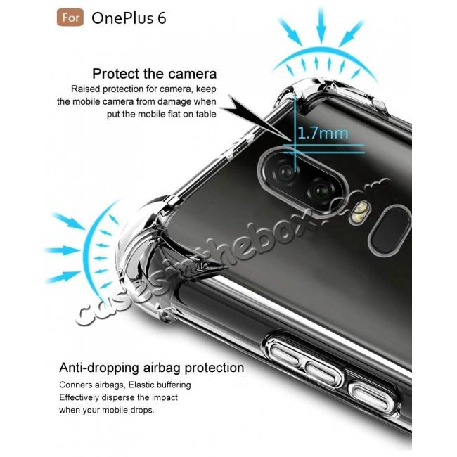 top quality For OnePlus 6 Shockproof 360° Clear Back Slim Soft TPU Case Cover