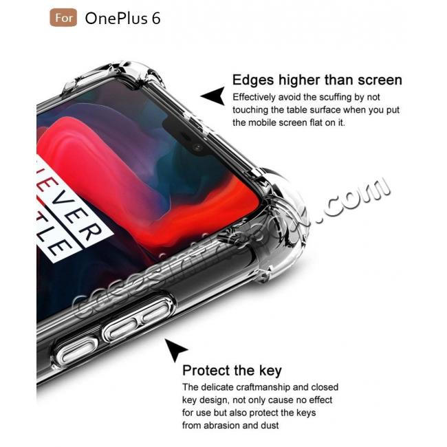 best price For OnePlus 6 Shockproof 360° Clear Back Slim Soft TPU Case Cover