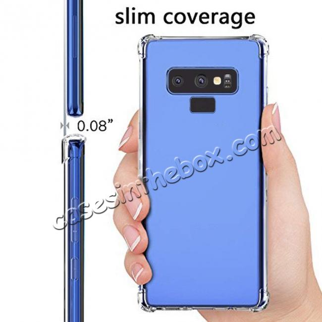 cheap For Samsung Galaxy Note 9 Clear Shockproof Slim TPU Cover Case