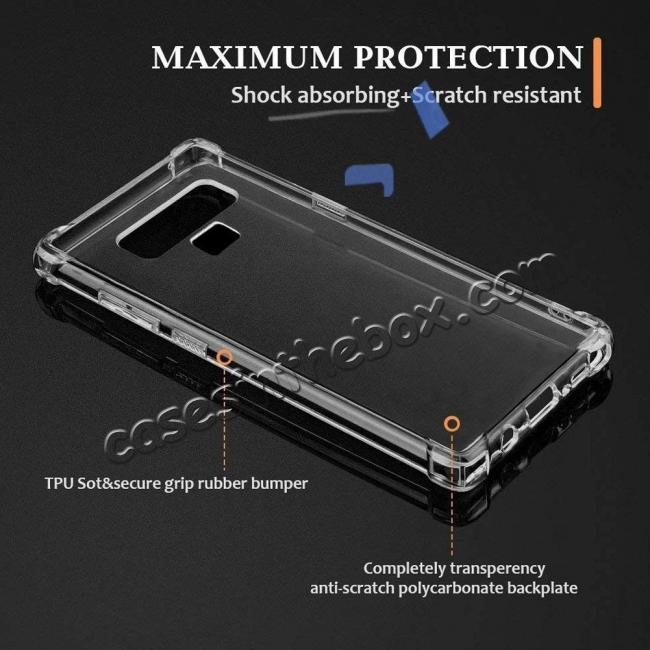 top quality For Samsung Galaxy Note 9 Clear Shockproof Slim TPU Cover Case