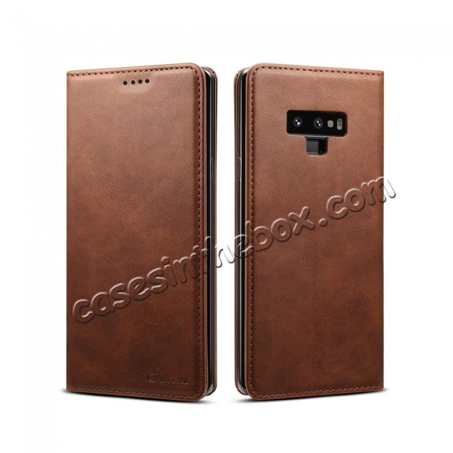 top quality For Samsung Galaxy Note 9 Flip Wallet Leather Stand Protective Case Cover