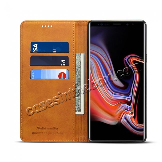 on sale For Samsung Galaxy Note 9 Flip Wallet Leather Stand Protective Case Cover