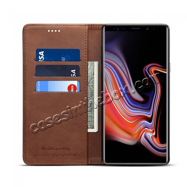 high quanlity For Samsung Galaxy Note 9 Flip Wallet Leather Stand Protective Case Cover