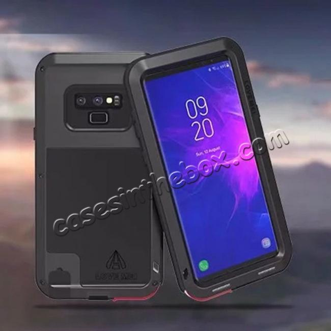 China leading wholesale For Samsung Galaxy Note 9 Metal Aluminum Armor Shockproof Bumper Case
