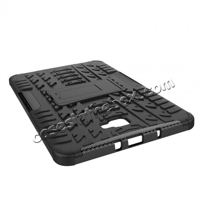 top quality Heavy Duty Hybrid Protective Case with Kickstand For Samsung Galaxy Tab A 10.1 Inch SM-T580 SM-T585 - Black