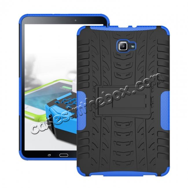 wholesale Heavy Duty Hybrid Protective Case with Kickstand For Samsung Galaxy Tab A 10.1 Inch SM-T580 SM-T585 - Blue