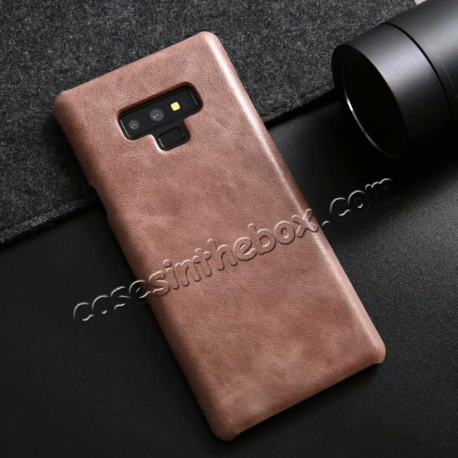 on sale Matte Cowhide Leather Back Case for Samsung Galaxy Note 9