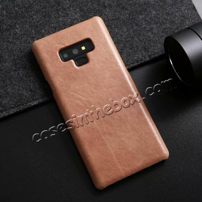 discount Matte Cowhide Leather Back Case for Samsung Galaxy Note 9