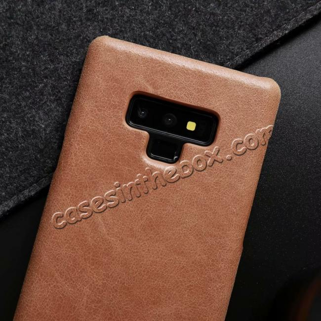 best price Matte Cowhide Leather Back Case for Samsung Galaxy Note 9