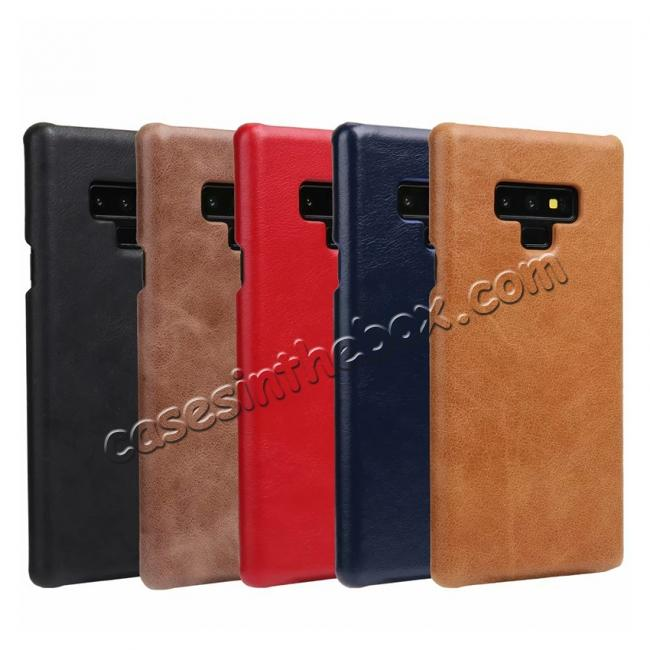 wholesale Matte Cowhide Leather Back Case for Samsung Galaxy Note 9