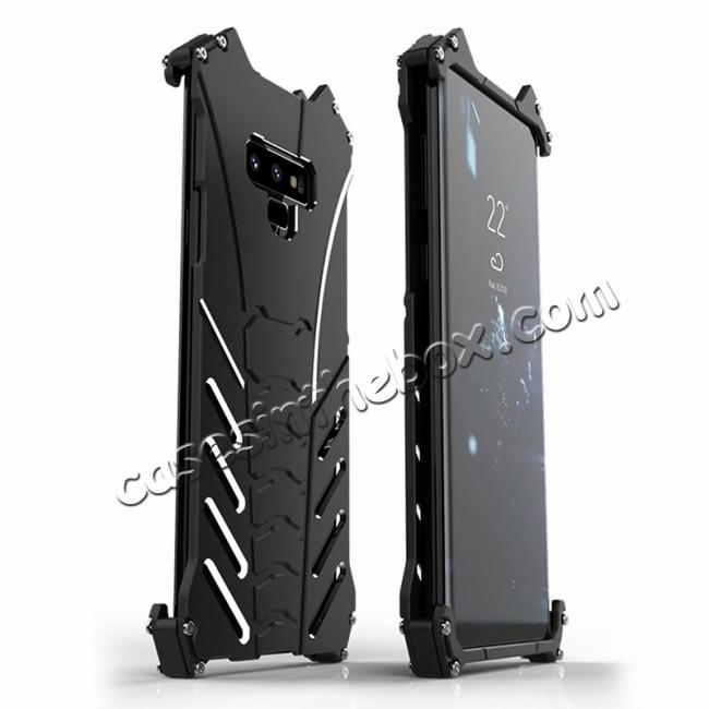wholesale R-JUST Aluminum Metal Shockproof Protective Case for Samsung Galaxy Note 9 - Black