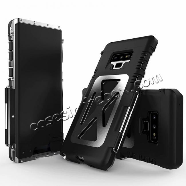 discount R-Just Metal Shockproof Powerful Flip Case Cover For Samsung Note 9 S9 S8 Plus