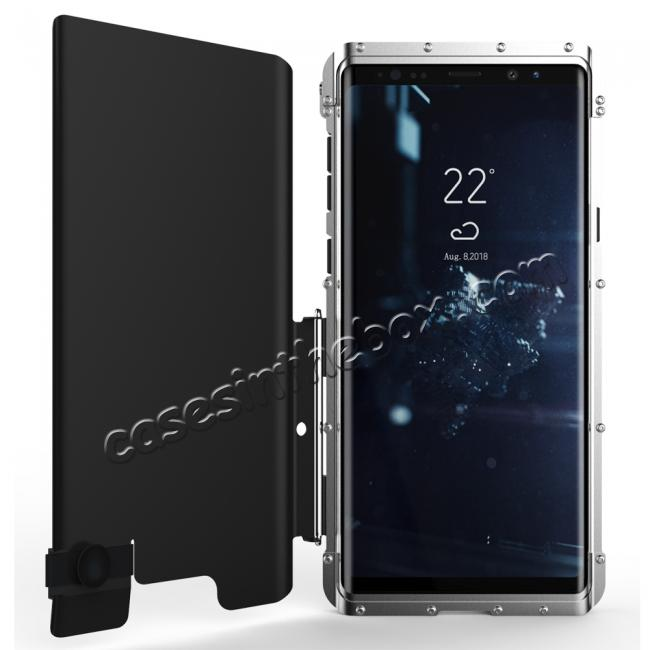 cheap R-Just Metal Shockproof Powerful Flip Case Cover For Samsung Note 9 S9 S8 Plus