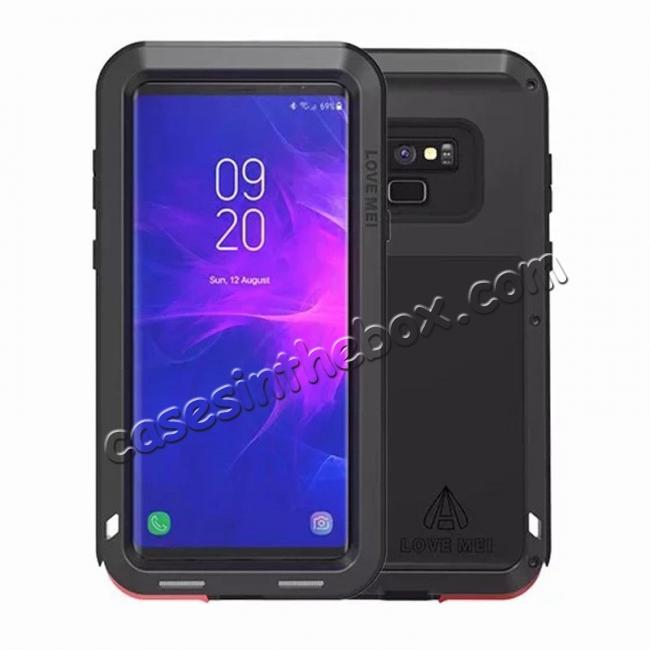 wholesale Shockproof Aluminum Metal Case Heavy Duty Cover For Samsung Galaxy Note 9 - Black