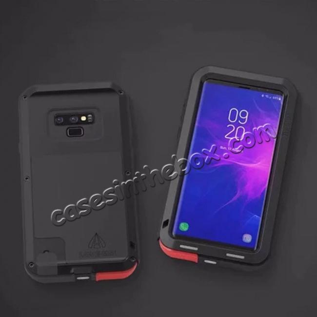 discount Shockproof Aluminum Metal Case Heavy Duty Cover For Samsung Galaxy Note 9 - Black