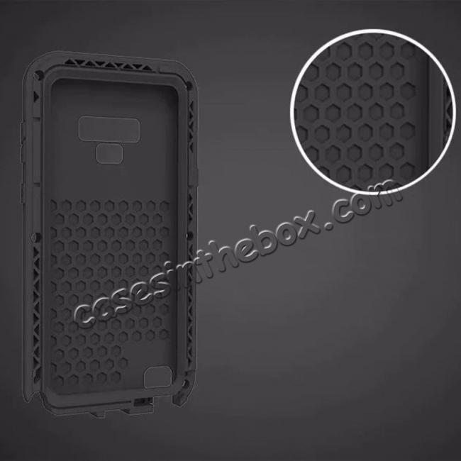 top quality Shockproof Aluminum Metal Case Heavy Duty Cover For Samsung Galaxy Note 9 - Black