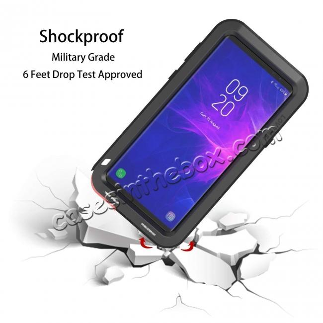 on sale Shockproof Aluminum Metal Case Heavy Duty Cover For Samsung Galaxy Note 9 - Black