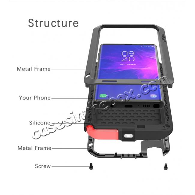 low price Shockproof Aluminum Metal Case Heavy Duty Cover For Samsung Galaxy Note 9 - Black