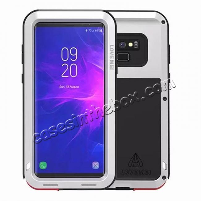 wholesale Shockproof Aluminum Metal Case Heavy Duty Cover For Samsung Galaxy Note 9 - Silver