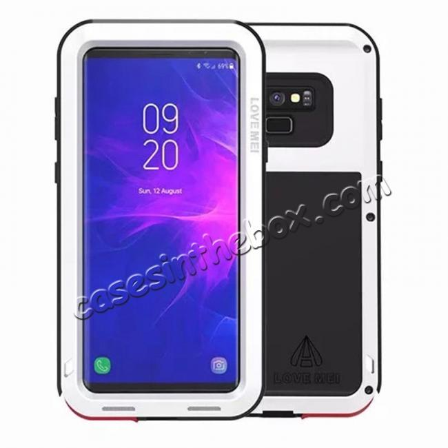 wholesale Shockproof Aluminum Metal Case Heavy Duty Cover For Samsung Galaxy Note 9 - White