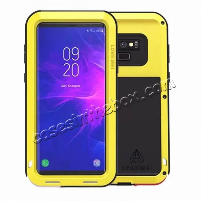 wholesale Shockproof Aluminum Metal Case Heavy Duty Cover For Samsung Galaxy Note 9 - Yellow