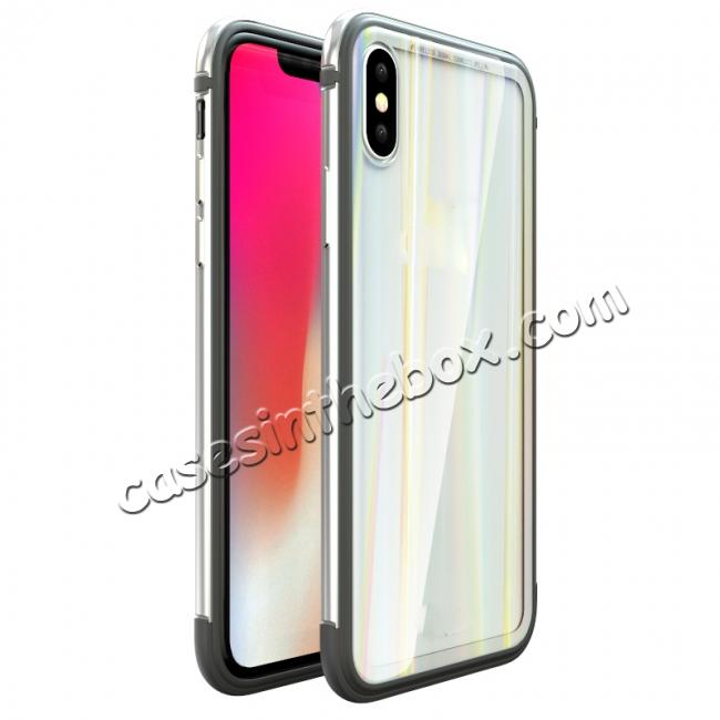 discount Shockproof Aluminum TPU Glass Hybrid Shield Case for iPhone 7/7 Plus/8/8 Plus  iPhone X