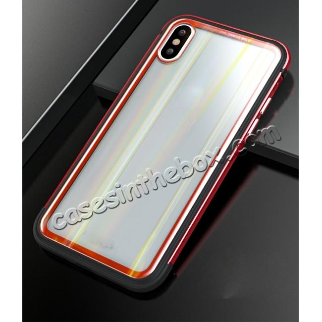 best price Shockproof Aluminum TPU Glass Hybrid Shield Case for iPhone 7/7 Plus/8/8 Plus  iPhone X