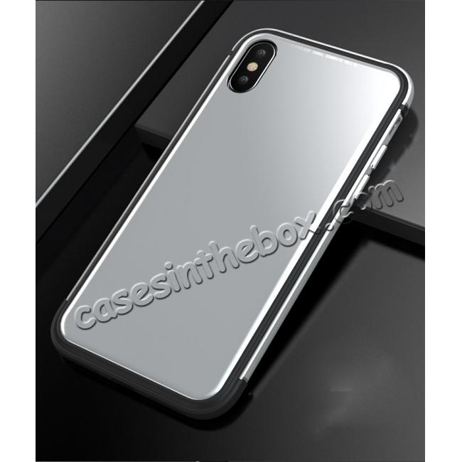 on sale Shockproof Aluminum TPU Glass Hybrid Shield Case for iPhone 7/7 Plus/8/8 Plus  iPhone X